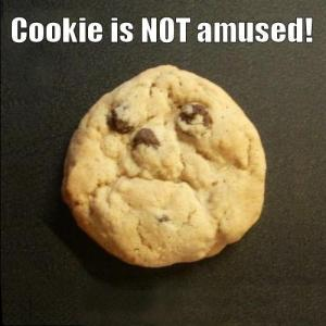 Not Amused Cookie