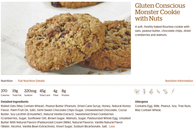 panera bread cookie