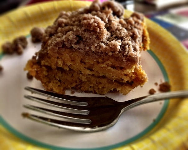 free meals and desserts, like the gluten-free pumpkin crumb cake I